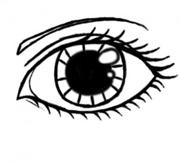 600x544 Drawing Outlines Eye For Free Download