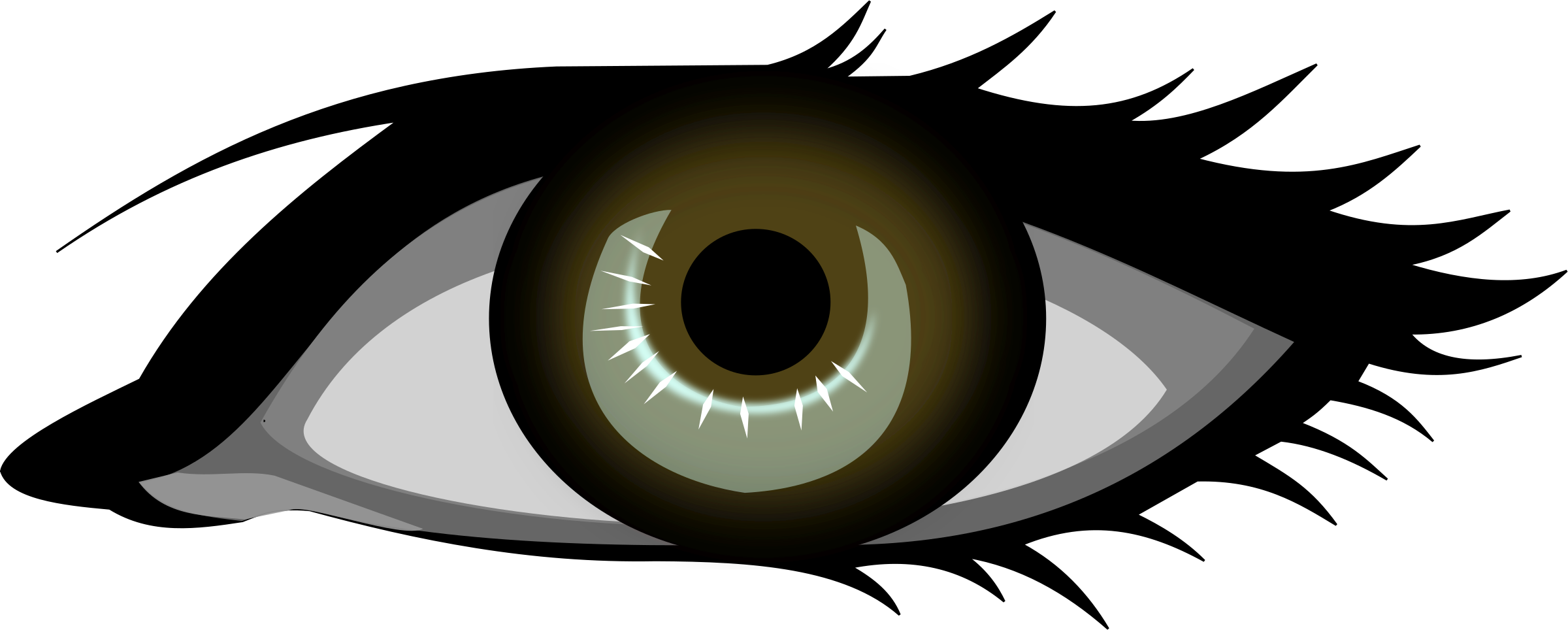2400x964 Collection Of Free Pain Drawing Eyeball Download On Ui Ex