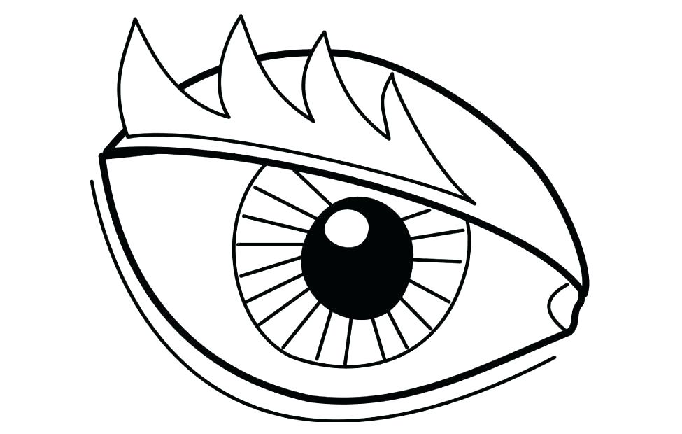975x620 Eye Coloring Sheet Drawing Lovely Eyes Coloring