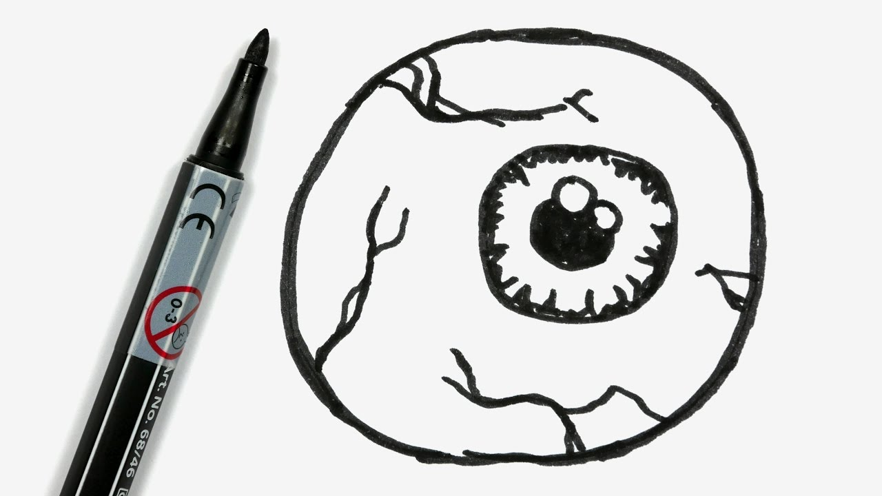 1280x720 How To Draw A Cartoon Halloween Eyeball
