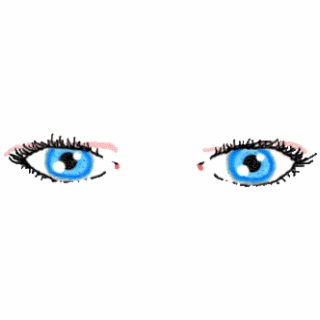 320x320 Blue Drawing Eyeball