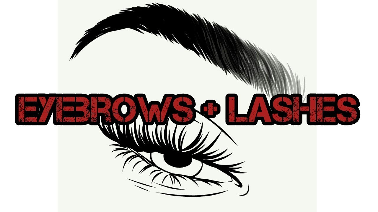 Eyebrows And Eyelashes Drawing | Free download on ClipArtMag
