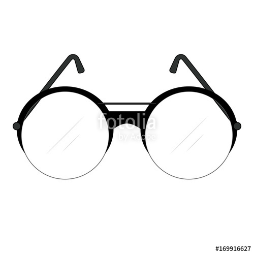 500x500 classic retro fashionable glasses with round lenses and temples