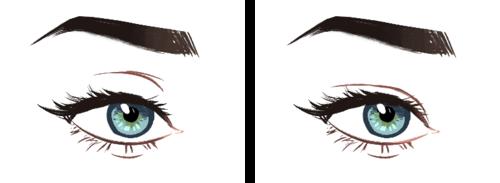 500x183 Winged Eyeliner Sketch