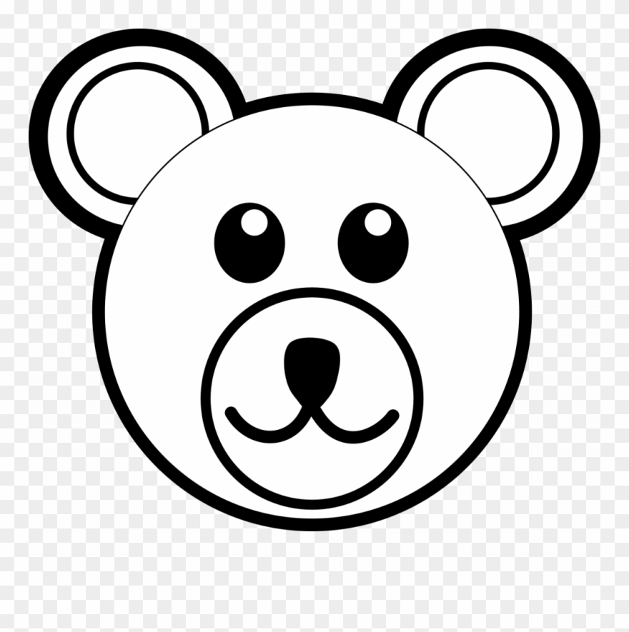 880x885 Easy Bear Face Drawing Trend Bear Face Coloring