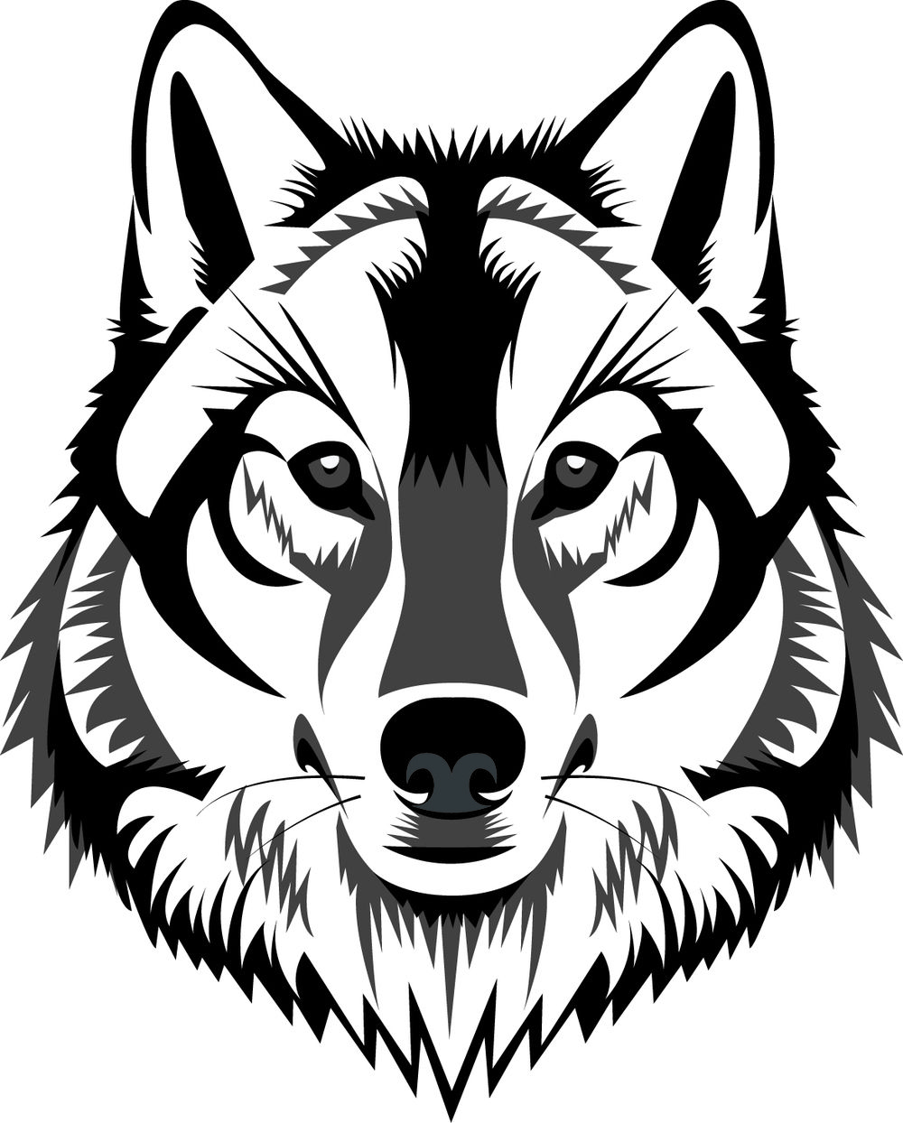 1000x1244 Photo Of For Black White Wolf Drawing Cricut Wolf