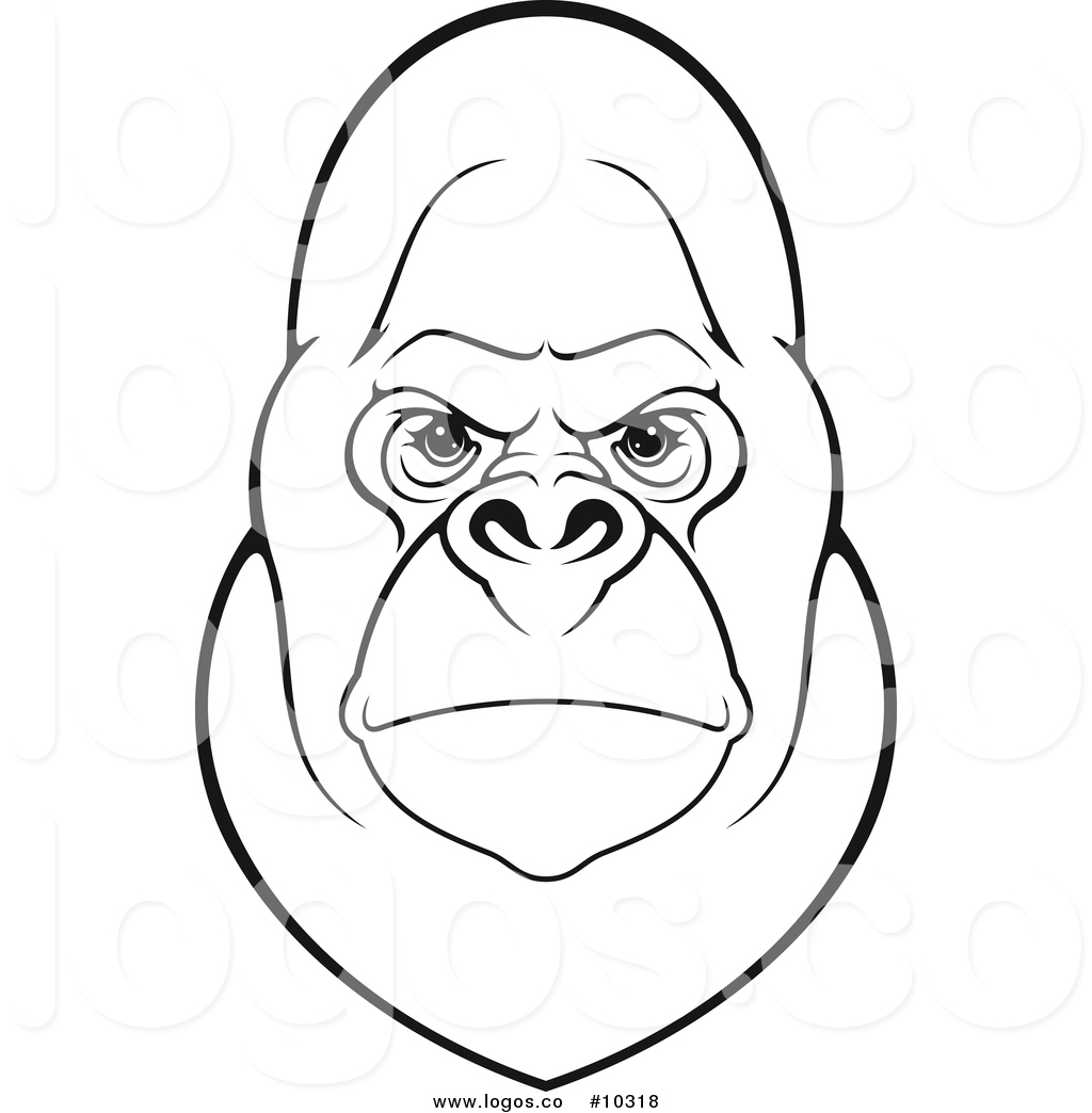 1024x1044 Gorilla Face Clipart Black And White Clip Art Images
