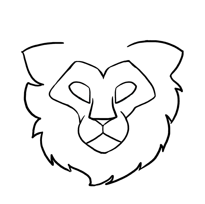 680x678 How To Draw A Lion Head