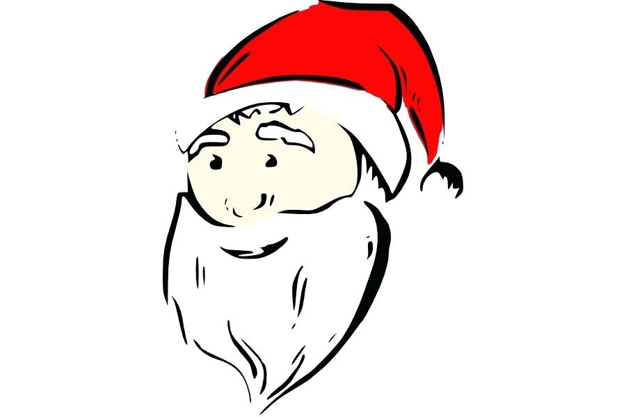 900x600 Cartoon Santa Claus Face Running