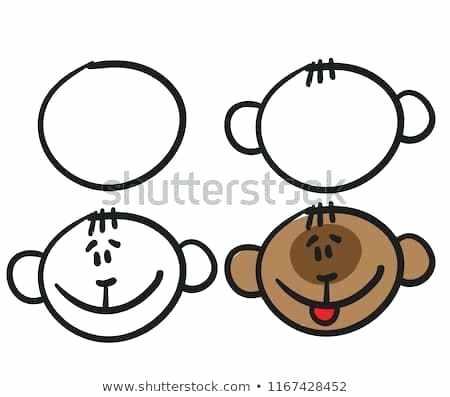 450x397 Cartoon Monkey To Draw How To Draw A Simple Cartoon Monkey