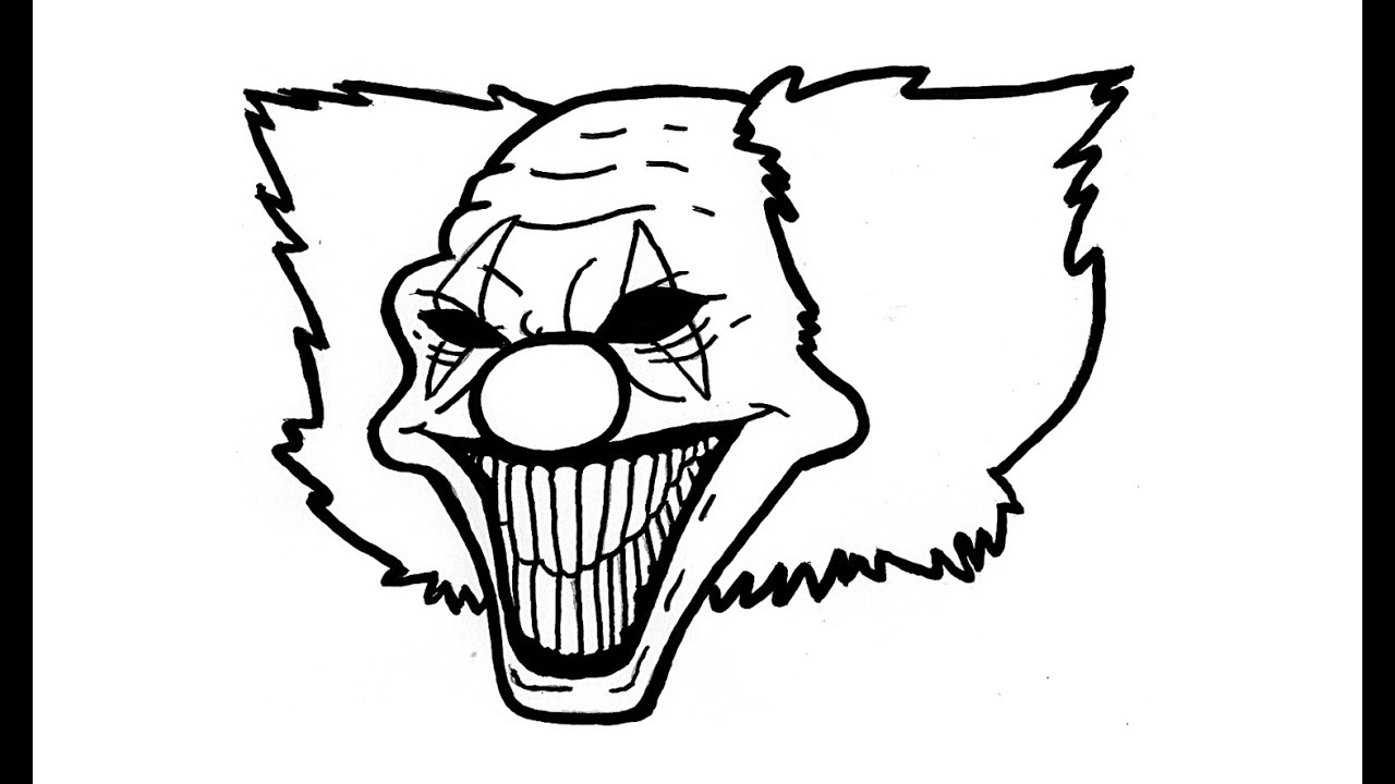 1280x720 Free Easy Way To Draw Scary Clowns, Download Free Clip Art, Free