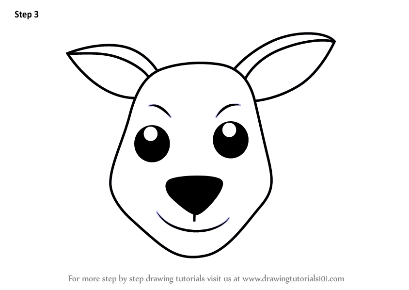 844x598 Learn How To Draw A Kangaroo Face For Kids