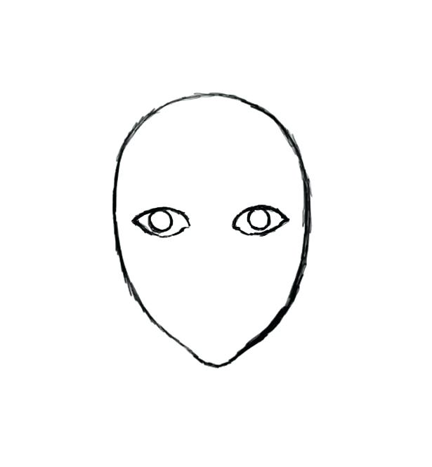 615x665 Simple Face Drawing How To Draw A Face Final Step Simple Tiger