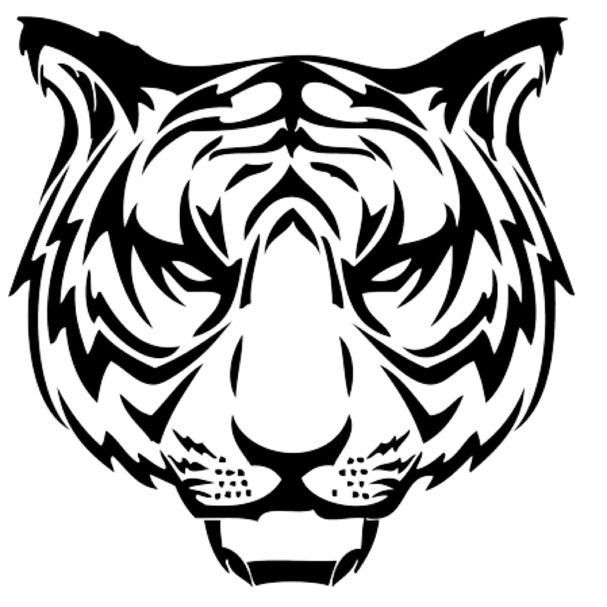 1252x1252 Tiger Face Drawing Silhouette At Getdrawings Com Free For Personal