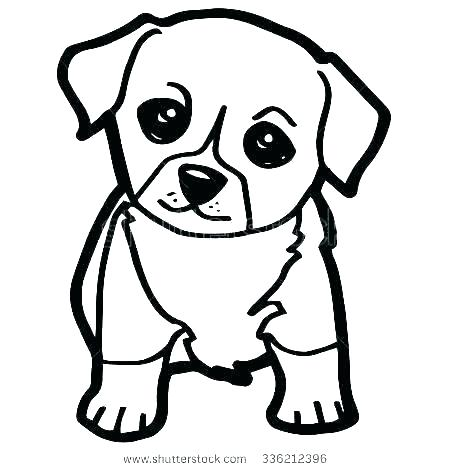 450x470 Easy Pug Drawing Large Size Of Pug Drawing Black And White