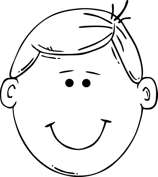 668x750 Face Child Drawing Boy Coloring Book Cc0