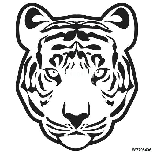 500x500 Tiger Outline Clip Art Library Face Drawing Easy
