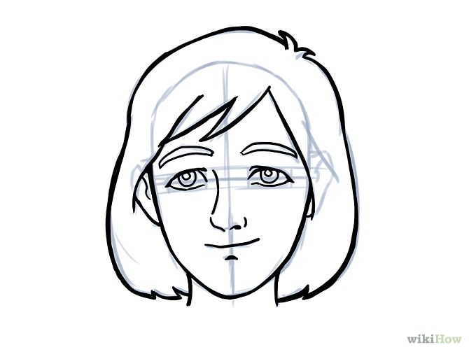 670x503 Easy Face Drawing Clipart