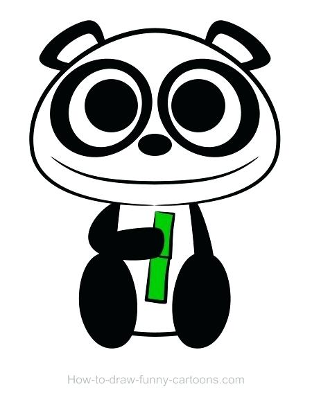 450x580 Easy Panda Drawings Panda Drawing Easy Panda Face Drawings