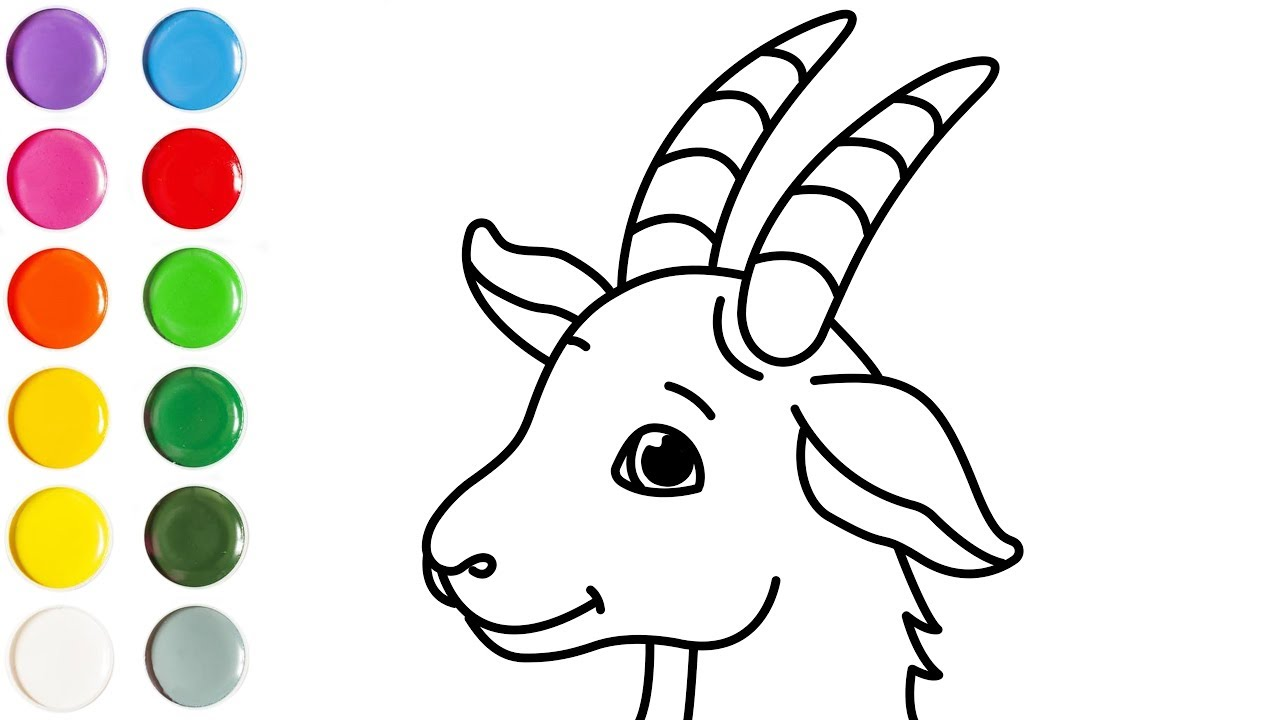 1280x720 How To Draw A Goat Face Drawing For Kids Learn How To Draw
