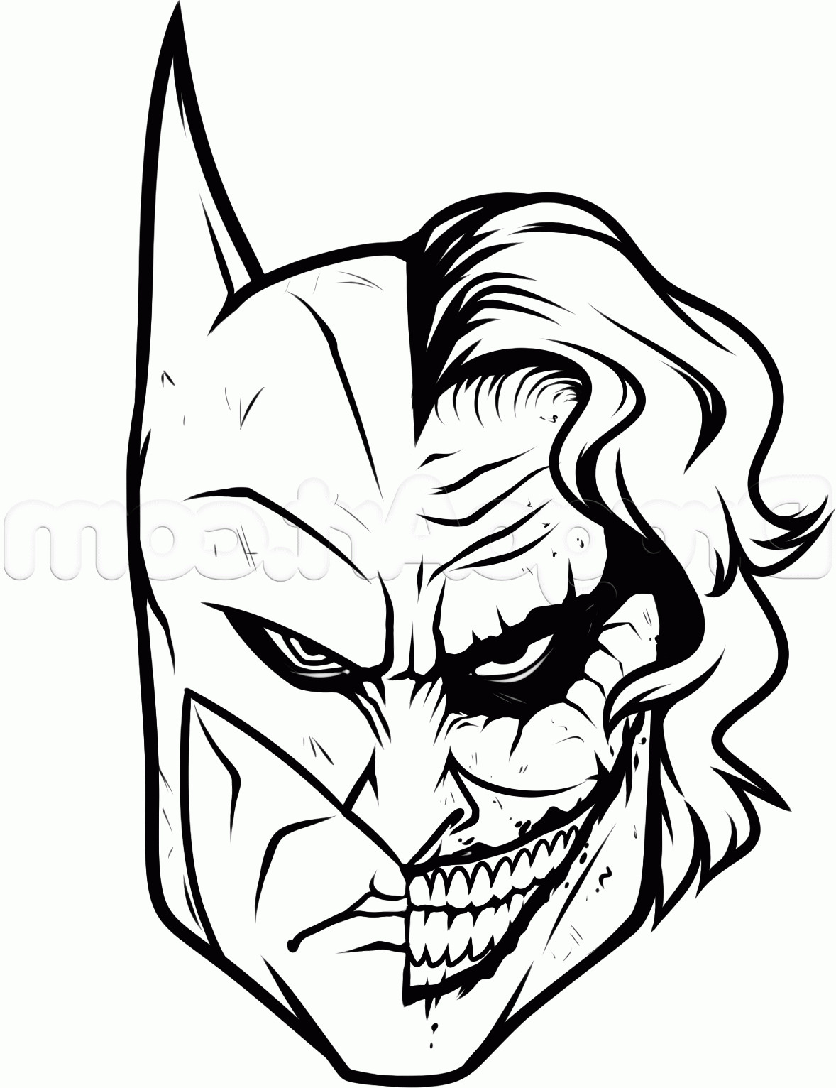 1178x1532 Batman Face Drawing Easy Comic Sketches Sign Head Ideas Mask