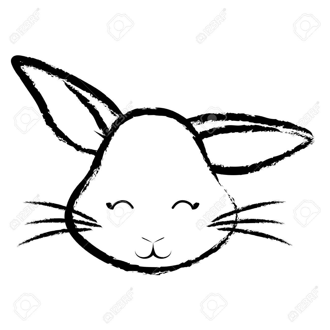 1300x1300 Bunny Face Drawing Easy Simple Realistic Of Carmi Chaelinn