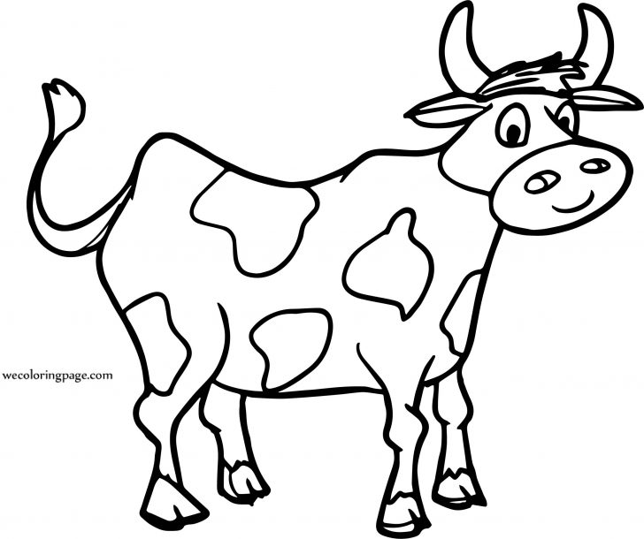 728x610 Cow Face Drawing Tutorial Picture Line Basic Cartoon Side Jersey