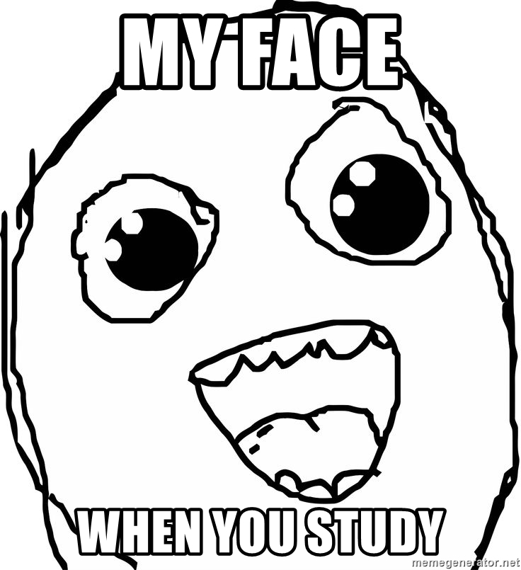 736x805 My Face When You Study