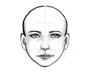 302x240 How To Draw A Human Face, Step