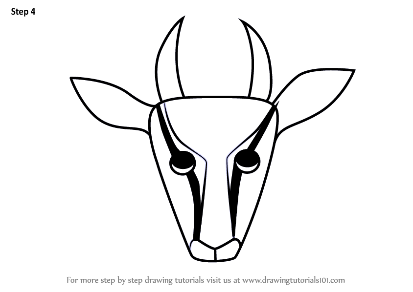 844x598 Learn How To Draw A Gazelle Face For Kids