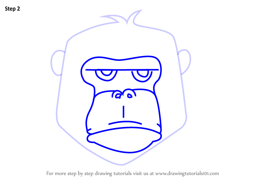 848x602 Learn How To Draw A Gorilla Face For Kids