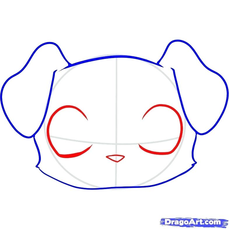 785x785 Puppy Face Drawing How To Draw A Puppy Face Easy Step