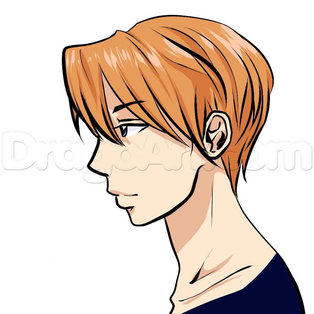 1000x1000 Side View Male Anime Face Drawing Tutorial, Step