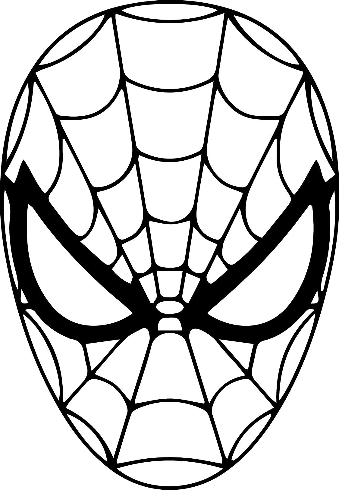 1125x1626 Spiderman Face Drawing Mask Coloring Page