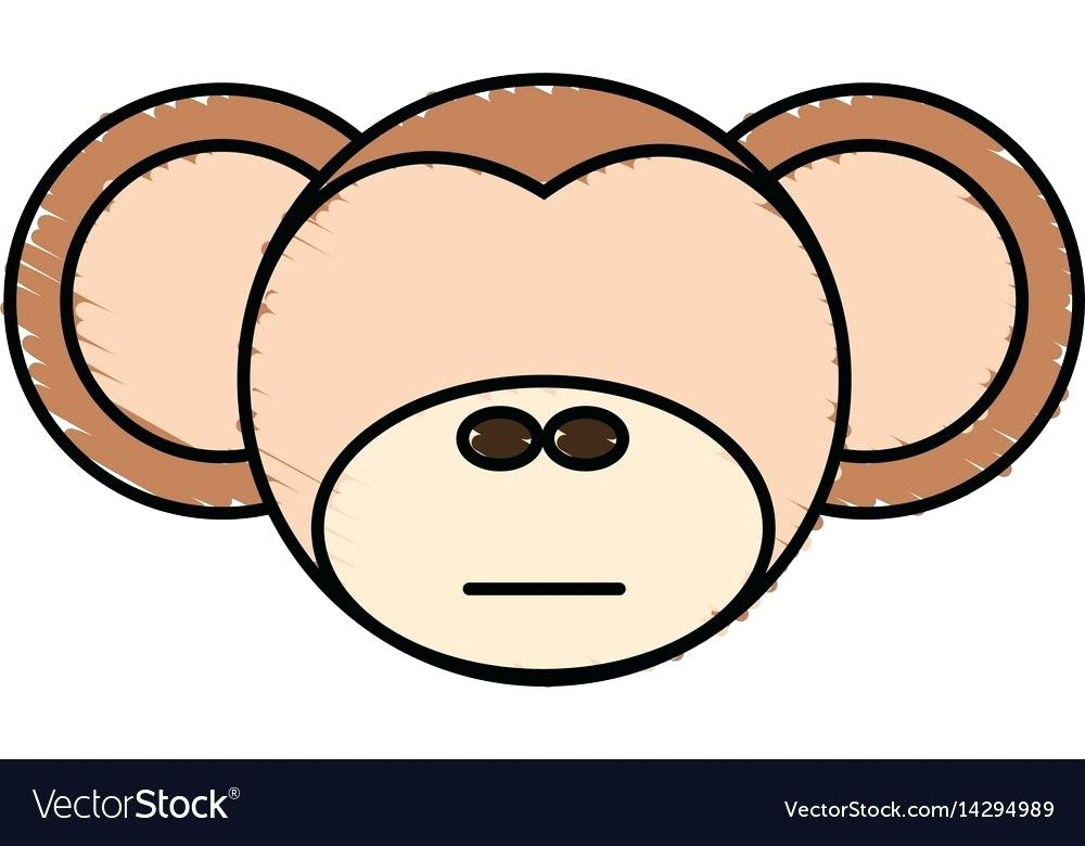 1000x780 Drawing Of Monkey Easy Drawing Monkey Face