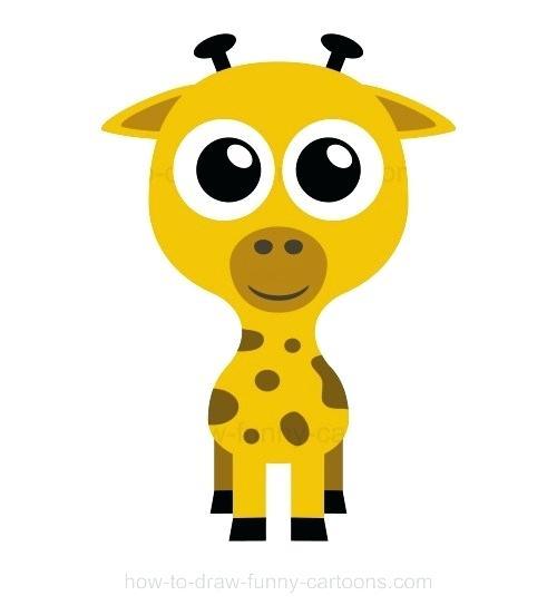 500x552 Giraffe Drawing Step