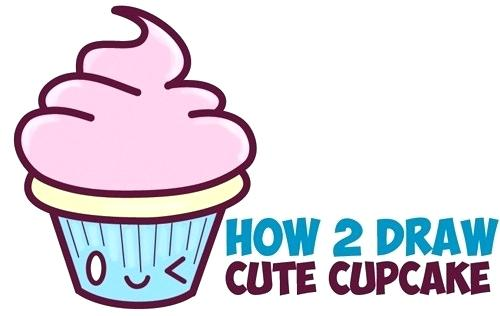 500x316 How To Draw A Cupcake How To Draw Cute Cupcake With Face On It
