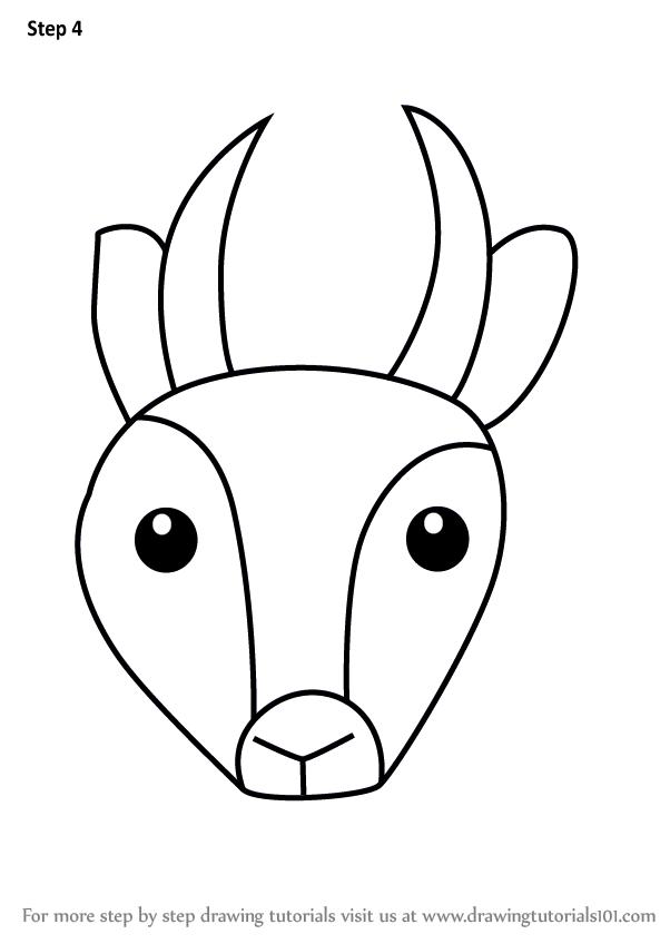 602x848 Learn How To Draw An Antelope Face For Kids