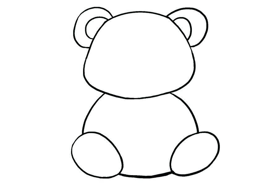 900x600 Panda Face Drawing