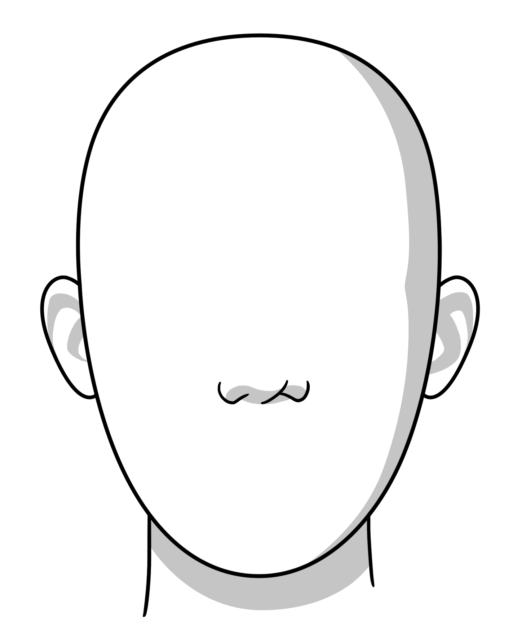 1697x2062 Drawing Template Face Shape For Free Download