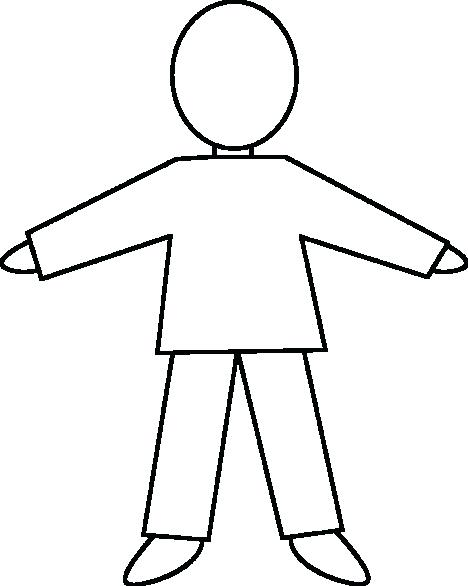 468x586 Child Outline Body Template Clipart