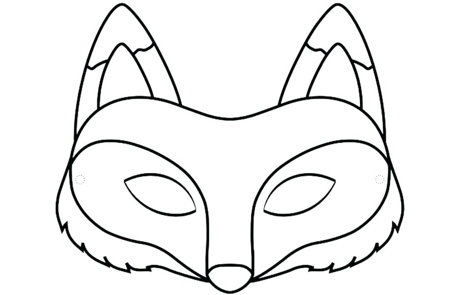 960x600 Dog Face Mask Template Animal Mask Drawing At Free For Personal