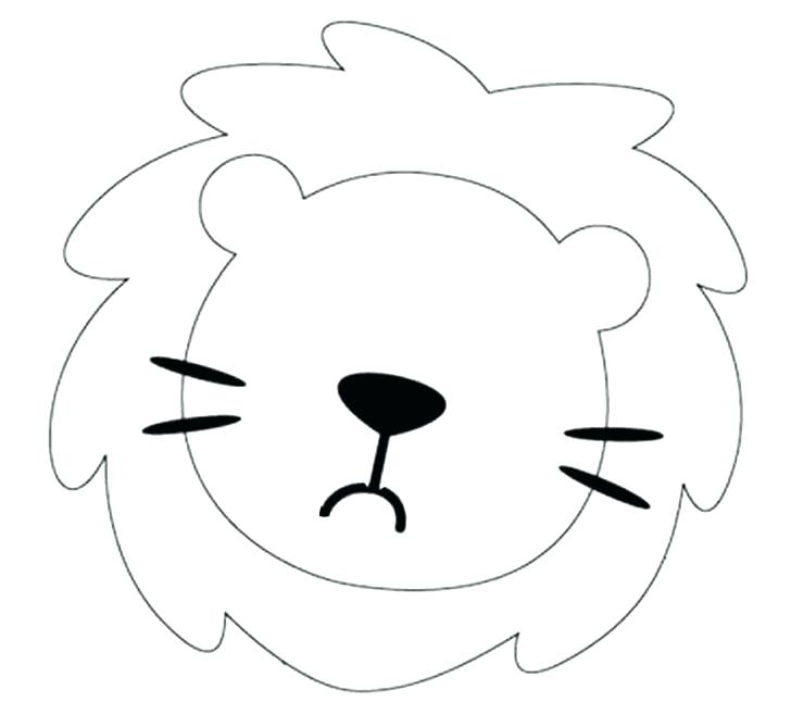 728x669 Lion Face Coloring