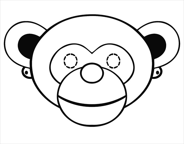 700x551 Animal Mask Template