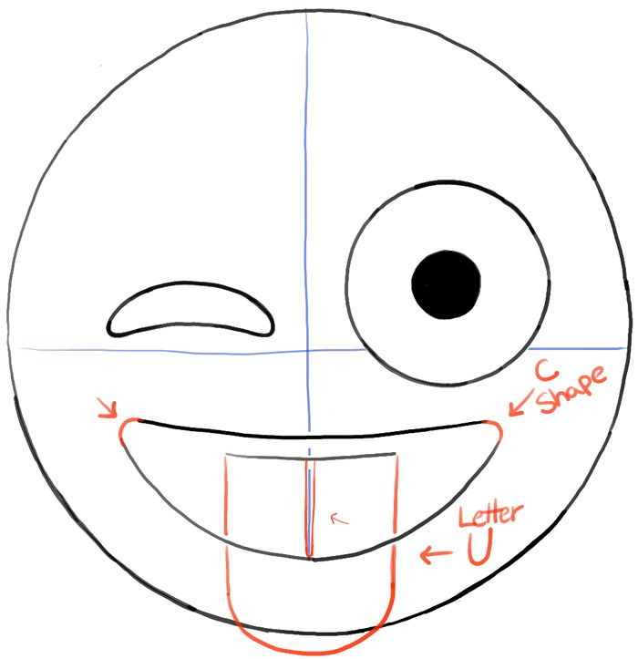 700x723 How To Draw Emojis Winking With Tongue Out Face Drawing Tutorial