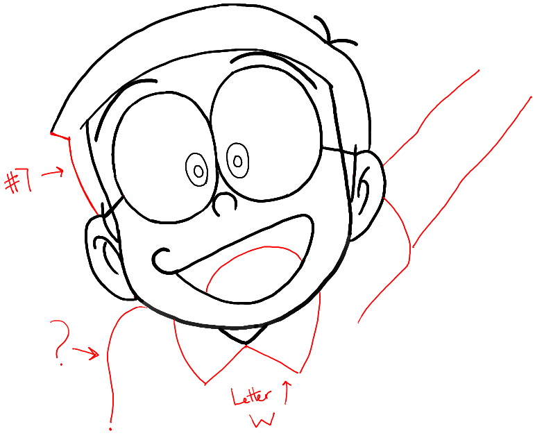 771x631 How To Draw Nobita Nobi From Doraemon With Easy Drawing Tutorial