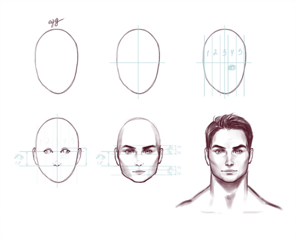 994x804 How To Draw A Woman's Face Tutorial