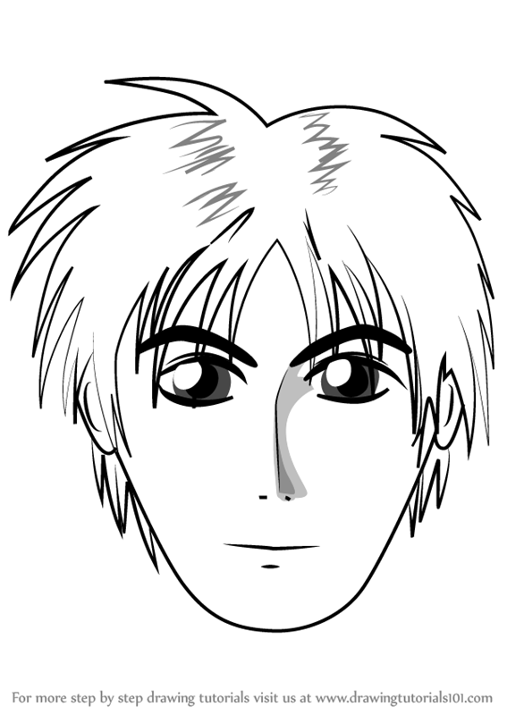 567x800 Learn How To Draw Anime Boy Face