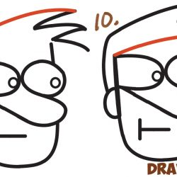 250x250 Cartoon Face Drawing Tutorial Dog Easy Angry Cute Girl Man Rabbit