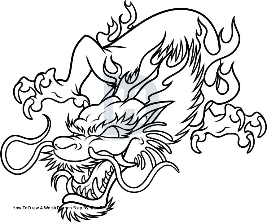 862x720 How To Draw A Easy Chinese Dragon How To Draw A Welsh Dragon Step